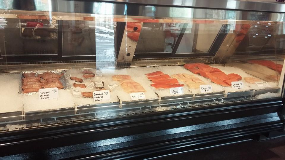Walleye, Chinook salmon, catfish, sockeye salmon, sturgeon, smoked fish, homemade fish dip and soups are ready for you to come pick up and take home!